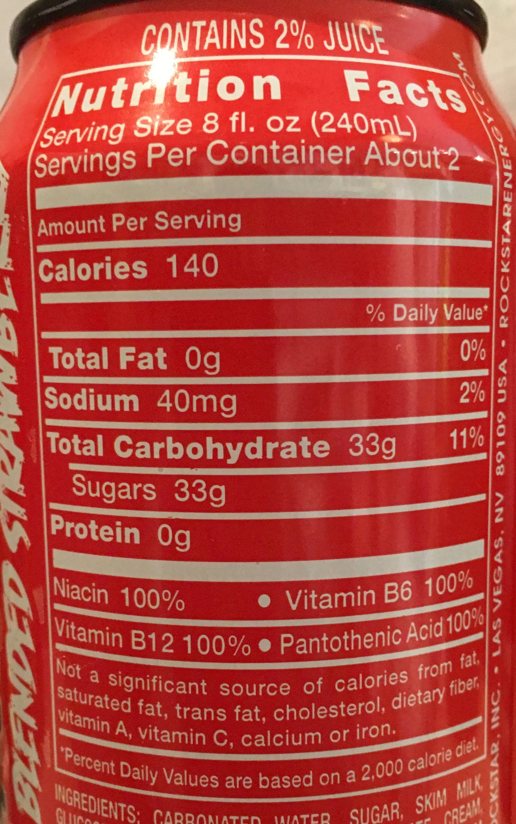 Redline Energy Drink Nutrition Facts Nutrition Ftempo
